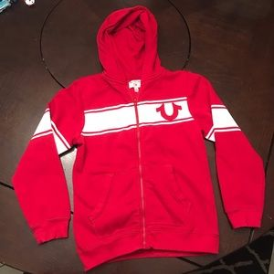 New Boys True Religion Zip Up Hoodie size small